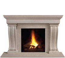1147.536 stone fireplace mantle surround in Washington D.C.