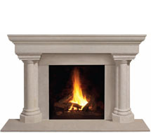 1147.555 stone fireplace mantle surround in Philadelphia