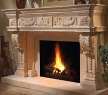1152.546 stone fireplace mantle surround in Philadelphia