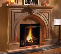 Atlanta stone fireplace mantel in Washington D.C.