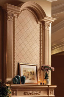 Royal stone fireplace overmantle surround in Washington D.C.
