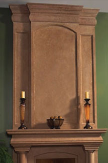 Trevi stone fireplace overmantle surround in Philadelphia