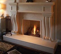 1143.536 stone fireplace mantle surround direct from us