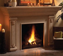 1160.540 stone fireplace mantle surround direct from us